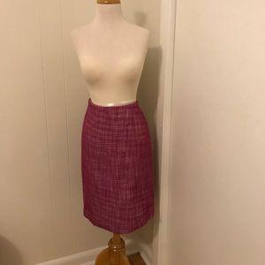 Pink tweed Talbots pencil skirt 10 NWT